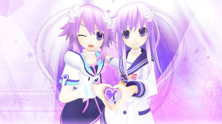 Neptunia Dual Hearts by Axection