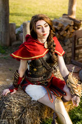 Kassandra cosplay from Assassin's Creed Odyssey by Phobos-Cosplay