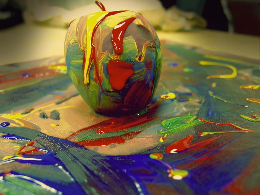Appley canvas by SpicedMoonDust