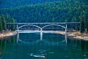 Rail Bridge, Sanders County, Montana by quintmckown