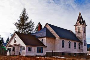 Abandoned Church, Spirit Lake, Idaho, USA by quintmckown