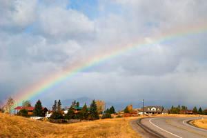 Rainbow over Wild Horse Plains, Montana by quintmckown