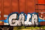 Graffiti on the tracks  (Detail) by quintmckown
