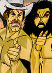 Stan (The Lariat) Hansen and Bruiser Brody by SteelerManiac