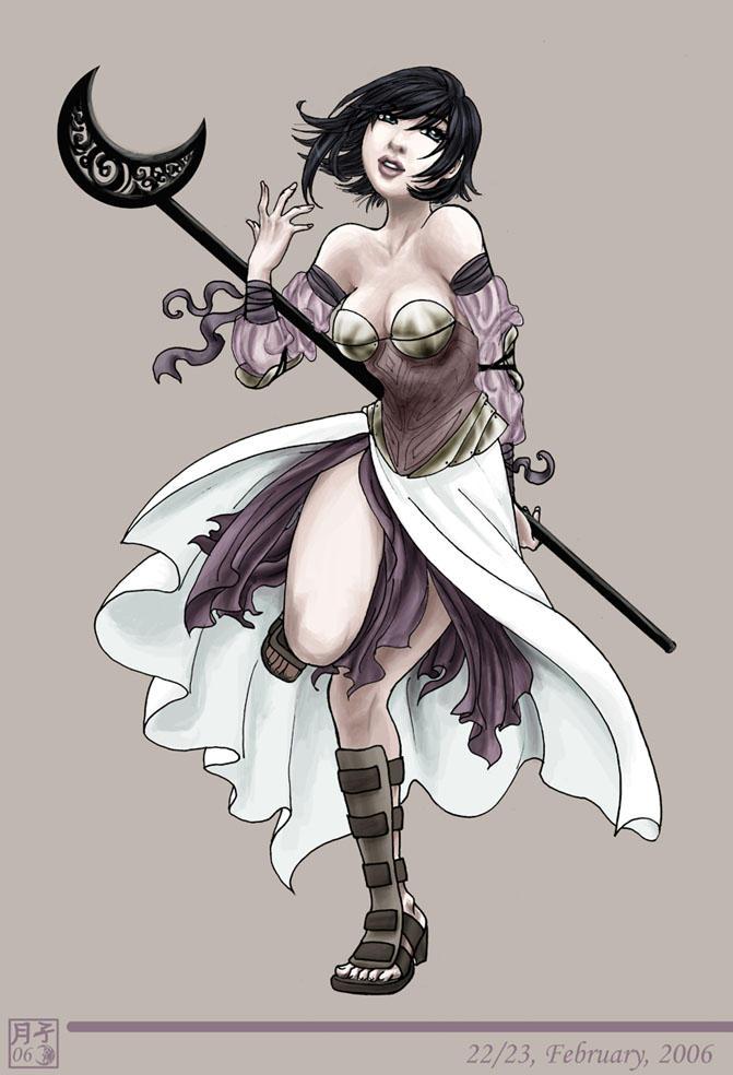 Fantasy Mage Girl by tsukiko