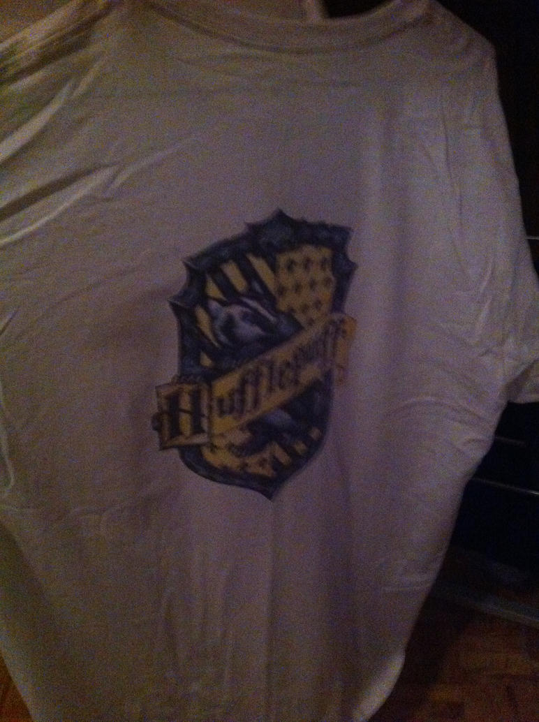 hufflepuff tee back by soulterror101