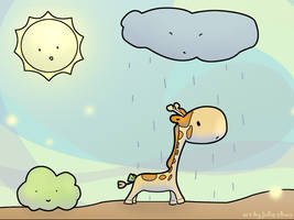 The Land Giraffee by joulee