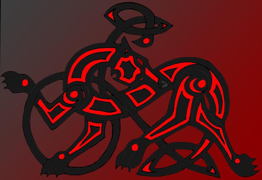 Tribal Celtic Wolf Design by jjferrit on DeviantArt