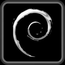 Debian black logo by Ivanmladenovi