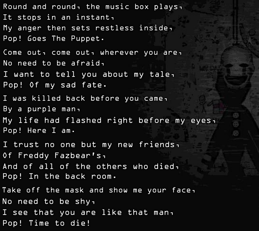 Ideal Lyrics for a Song for The Puppet/Marionette by KittenLover75 ...