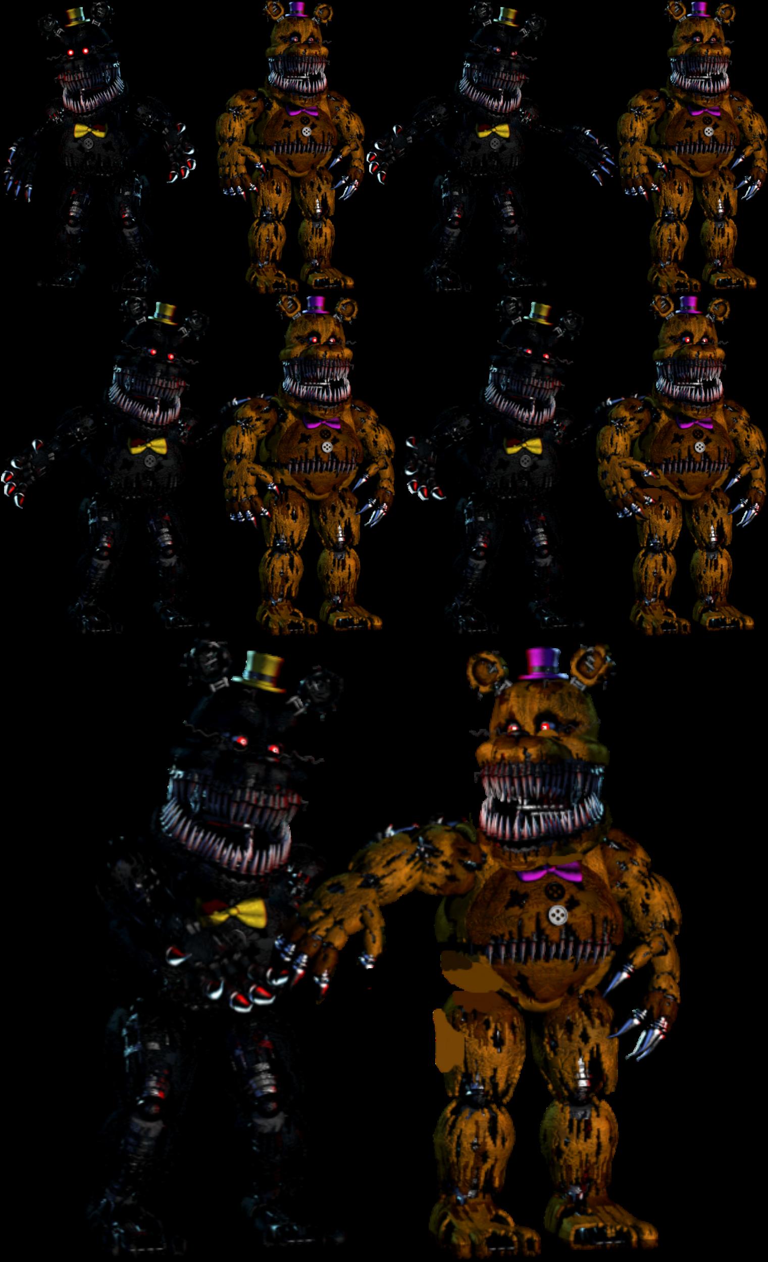 Nightmare fredbear x nightmare by kittenlover75 on deviantart