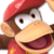 Super Smash Brothers Ultimate - Diddy Kong Icon by KittenLover75