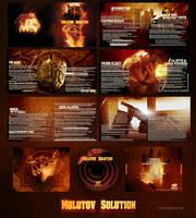 Molotov Solution CD Design by damnengine