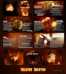 Molotov Solution CD Design by damnengine