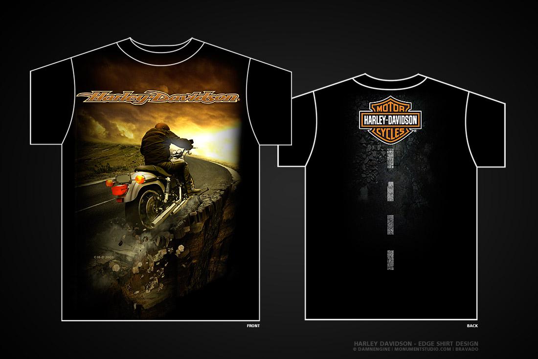 Harley davidson edge by damnengine on deviantart for Graphic edge t shirt design