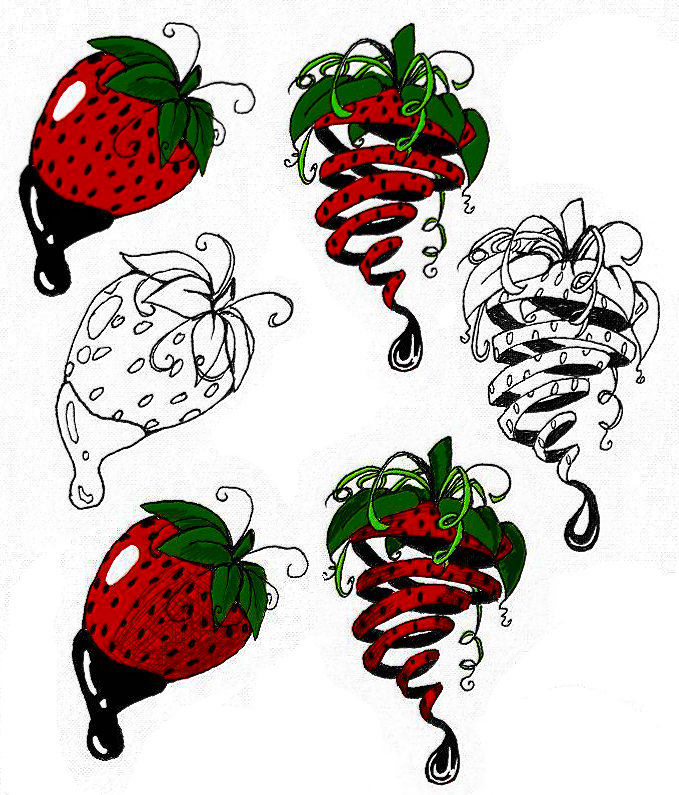 Strawberry Tattoos By Darkabyssinian On DeviantArt