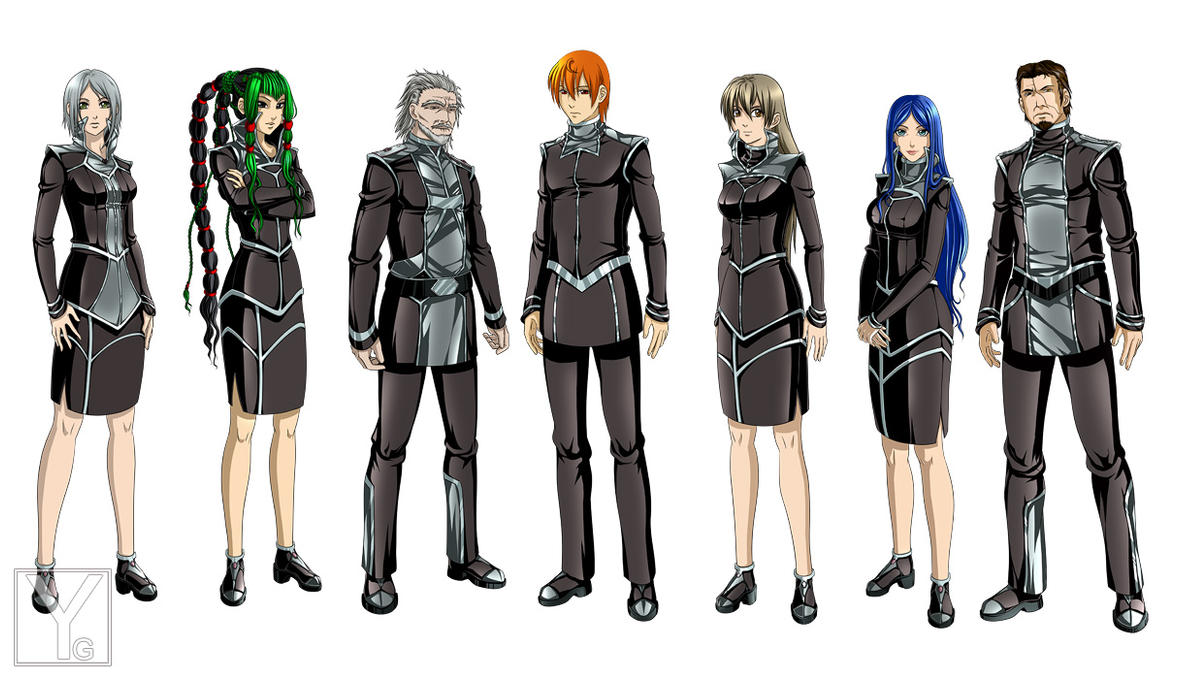 How To Design Character Anime : Character design officers by aaorin on deviantart