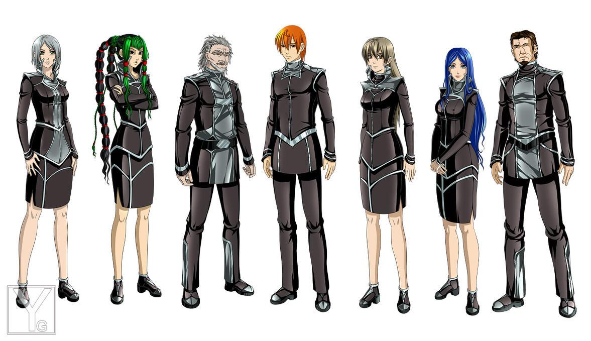Character Design Art School : Character design officers by aaorin on deviantart