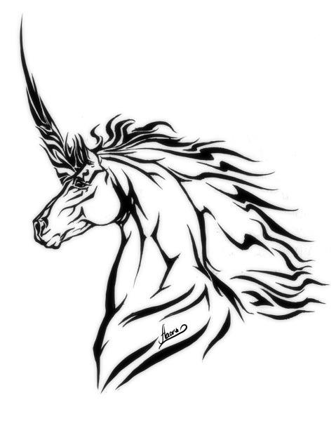 Unicorn Tattoo by Aaorin