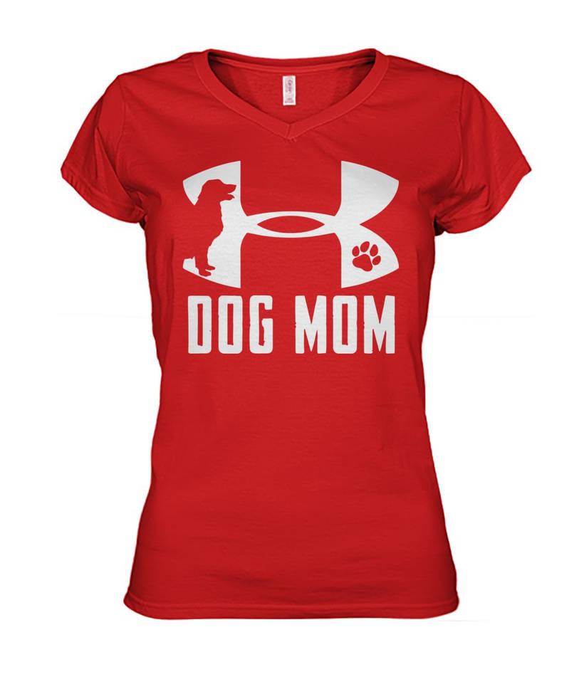 1b22951a Dog-Mom-Under-Armour-Logo-women-v-neck by Elantrashirtsshop on ...