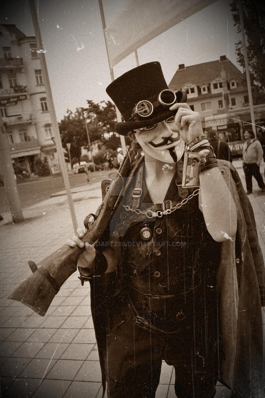 V for Steampunk Vendetta by Gildartz88