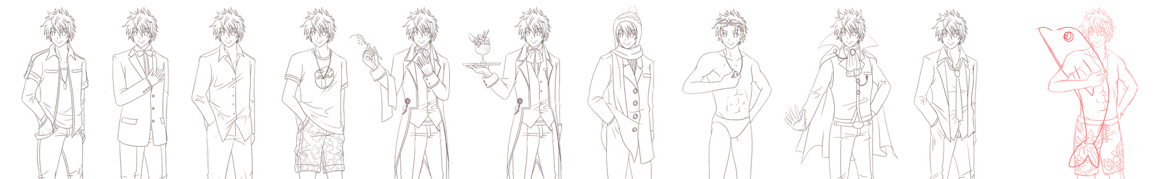 Young Jae sprites (inked) by NellieRie