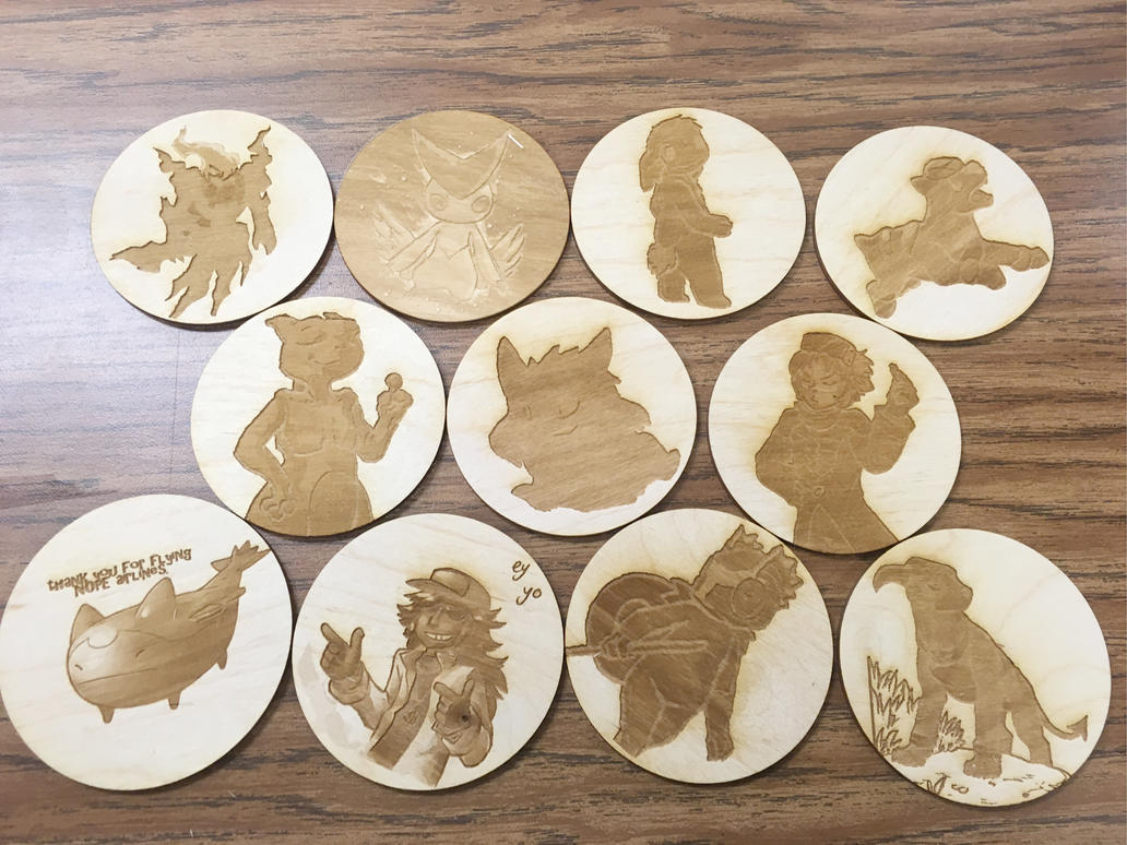 Victory Fire Characters Laser Engraved by orange-potatoe