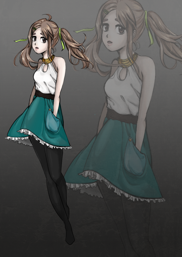 Teal Skirt by Yumi-3