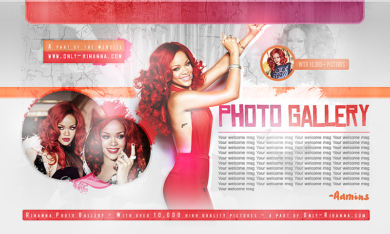 Rihanna Gallery header by CrimsonHeartx