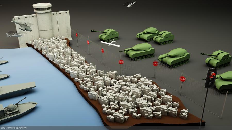 gaza6 by mahmoudalarawi