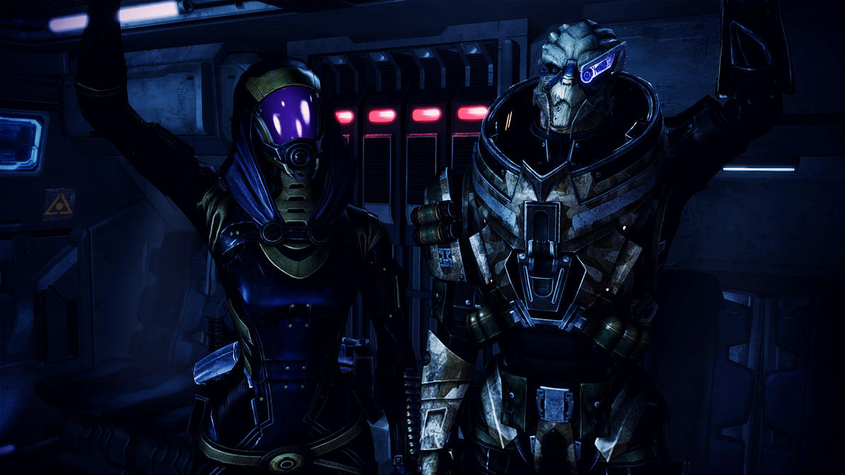 Tali'Zorah vas Normandy and Garrus Vakarian by johntesh