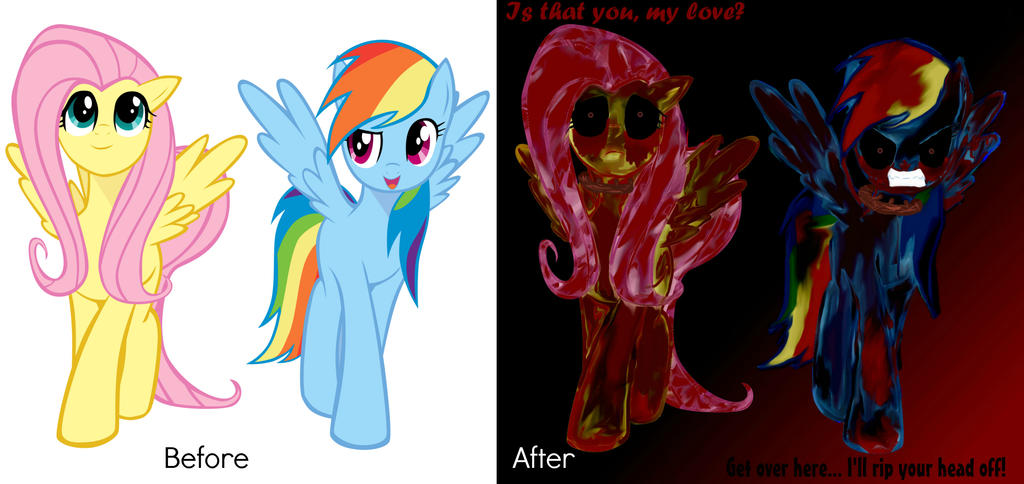 My little Amnesia before and after by P-Paradox