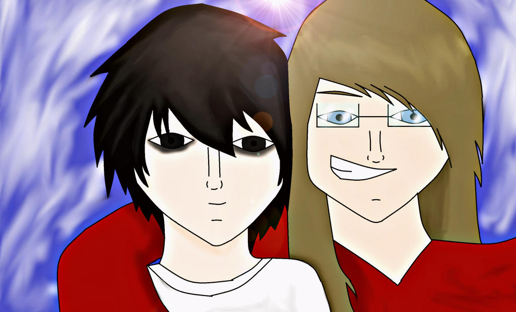 Ryuzaki (L) and me! by P-Paradox