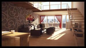 Manhattan penthouse apartment by Perbear42
