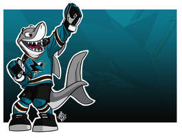 San Jose Sharks: S.J. Sharkie by jmh3k