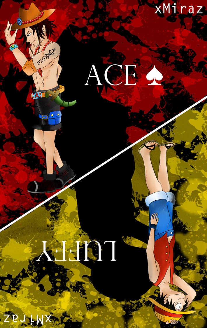 One Piece - Ace and Luffy by xMiraz