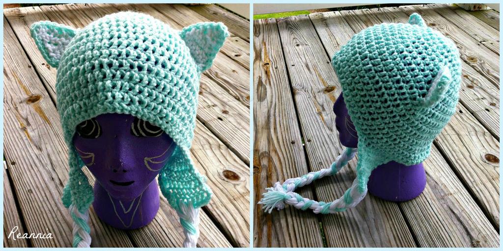 Crochet Mint Cat Hat by Rhiannon-San