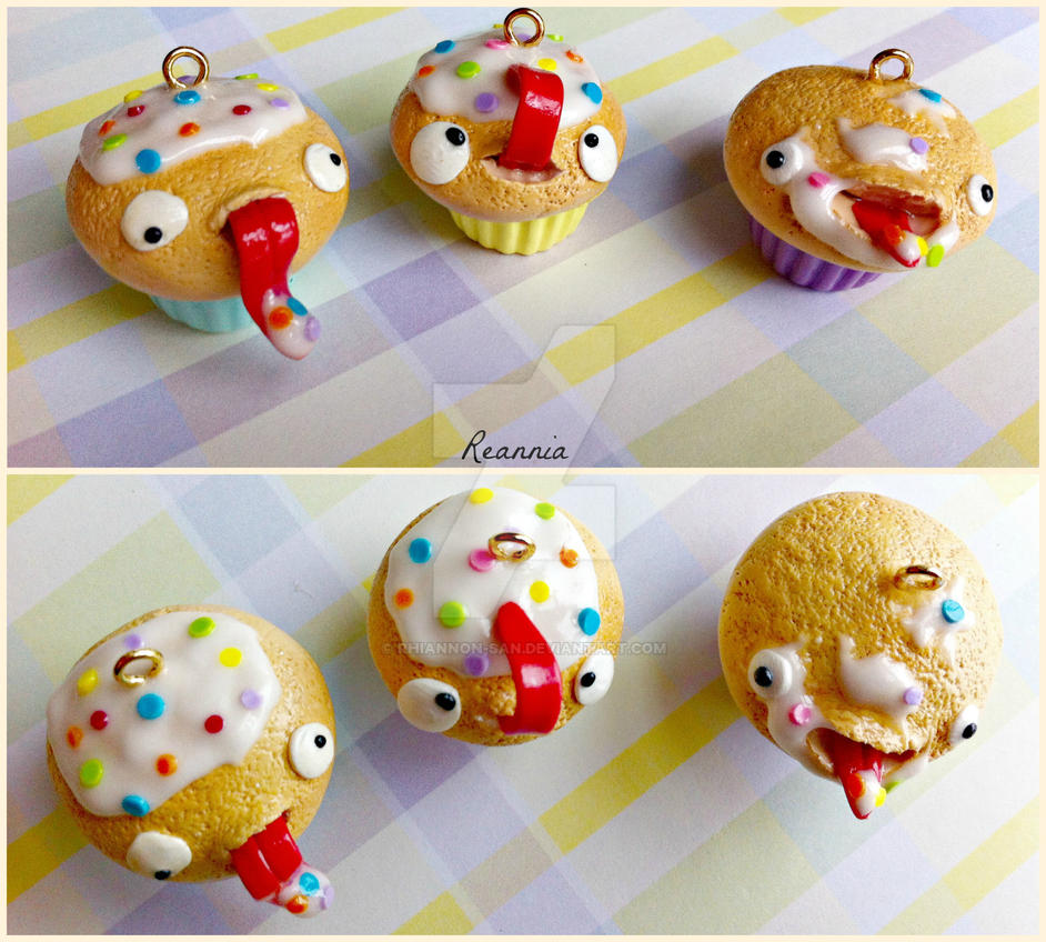 Hungry Cupcake Charms by Rhiannon-San