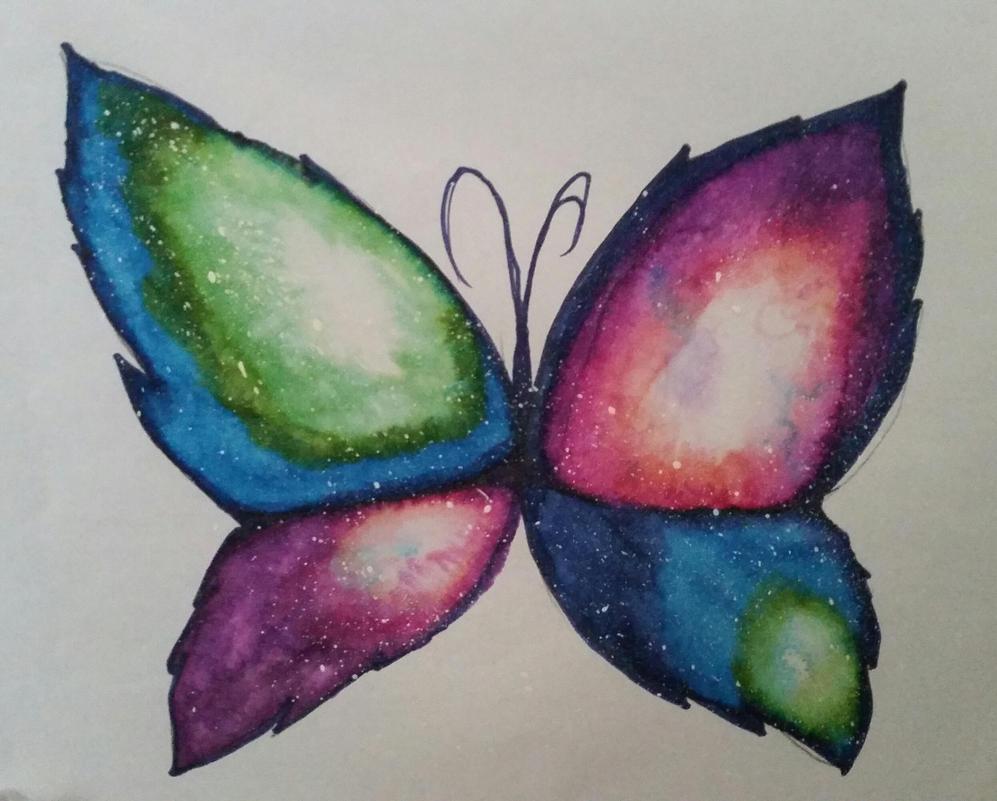 Galaxy Butterfly 1 by Rhiannon-San