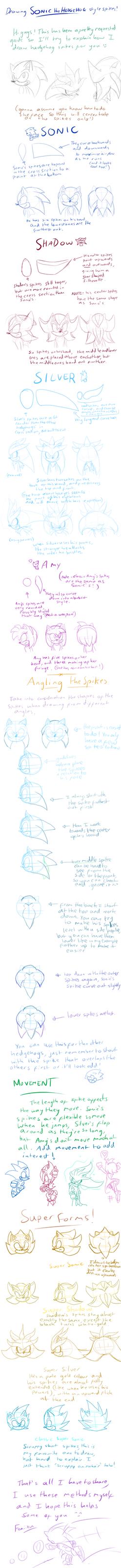 How I Draw Hedgehog Spikes by Feniiku