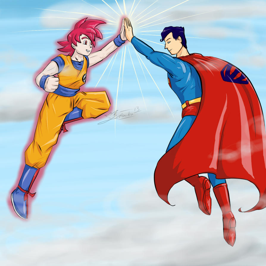 RequestJam- Goku and Superman by Feniiku