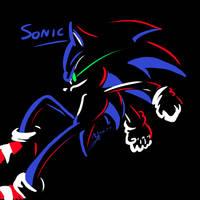 3 colour- Sonic the Hedgehog by Feniiku