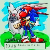 Trainer Sonic wants to battle! by Feniiku