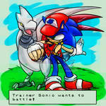 Trainer Sonic wants to battle!