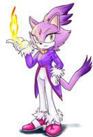Blaze the cat by Feniiku