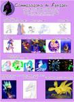 Commission Price List by Feniiku