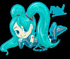 a little Miku by Feniiku