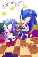 Sonic 26th by Feniiku