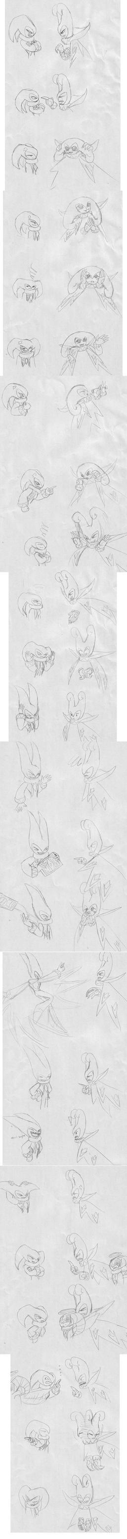 NiGHTS and Jackle comic by Feniiku