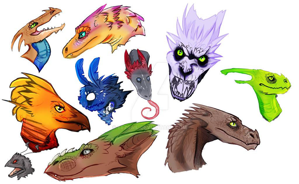 Dragons by Bezrail